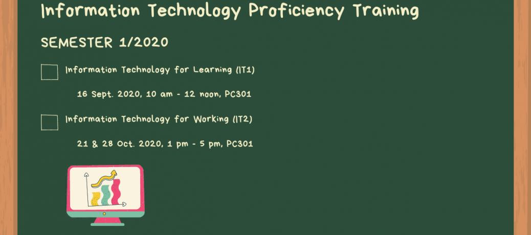 IT Proficiency Training, Semester 1/2020