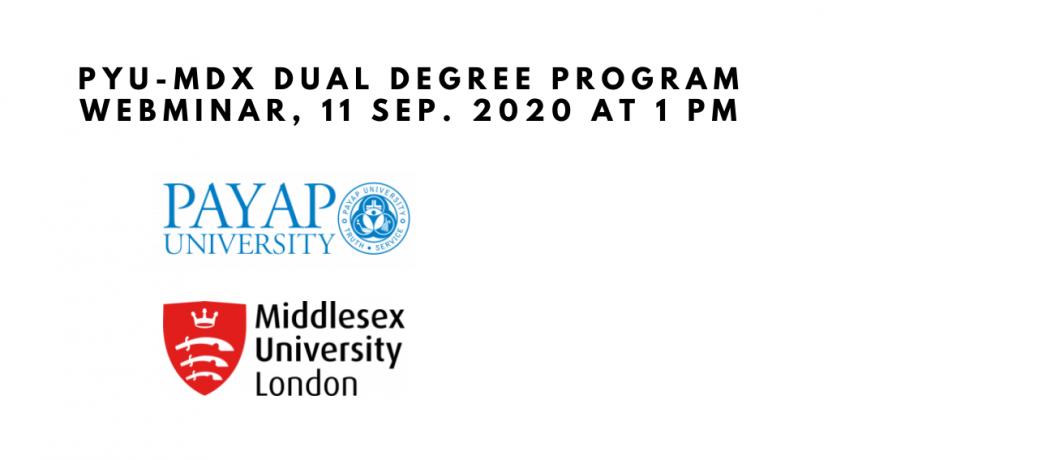 PYU-MDX Dual Degree Program Webminar