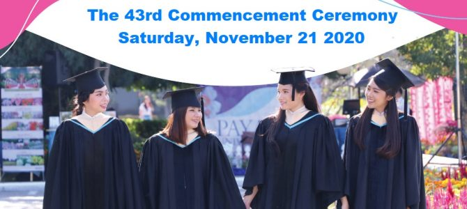The 43rd Commencement Ceremony of Payap University